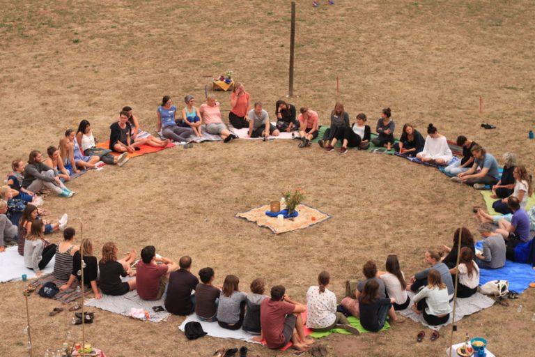 Gemeinschaft im Circle bei der Imagine in Eschwege